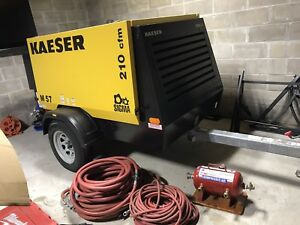 Used 2015 Kaeser M57 Towable Diesel Air Compressor Kaeser M57