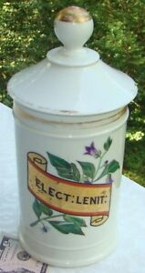 Antique Julio Labadie Mexico French Porcelain Drug Store Apothecary Jar Nice