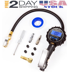 Digital Tire Pressure Gauge Inflator Car Air Chuck And Compressor Accesssories