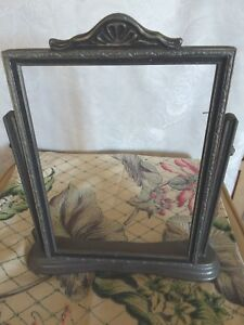 Vintage Art Deco Ornate Silver Wood Swing Tilt Picture Frame