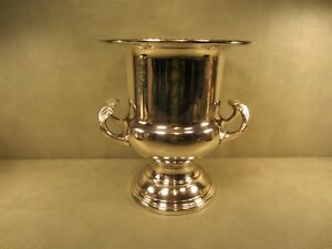 Leonard Silver Plated Vintage Champagne Wine Cooler Ice Bucket Trophy Cup Style