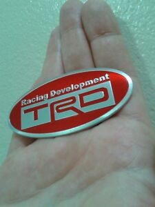 For Toyota Racing Development Trd Emblem Aluminium Alloy Fast Shipping