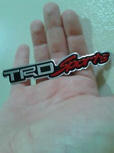 For Toyota Racing Development Trd Sport Emblem Aluminium Alloy Fast Shipping