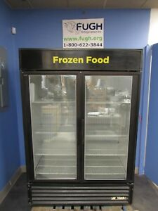True Gdm 49f Glass Double Door Freezer Merchandiser