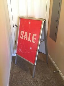 Metrix A frame Sign Stand Double Sided 36 X 24 Sidewalk Sign Board Usa Ship