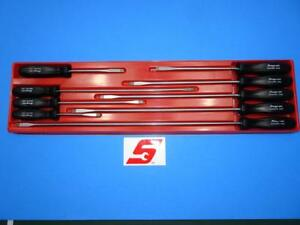 Snap On 9pc Sdd Long Handle Flat Screwdriver Set