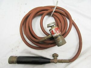Turbotorch B tank Acetylene Torch Hose Handle Regulator Hvac Plumbing Soldering