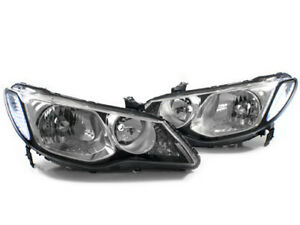 06 11 Honda Civic 4dr Sedan Depo Jdm Fd1 Fd2 Conversion Headlight Swap Chrome