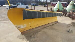 Heavy Duty Snow Plow 11 Hydraulic Power Angle Dump Truck Tractor Skid Steer