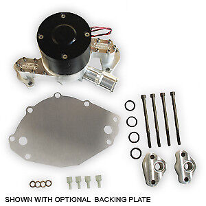 Ac sbf9 Small Block Ford Electric Water Pump 1 1 2 An Passenger Side With Plate