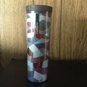 Starbucks Stainless Steel Line Waves Tumbler 16 fl oz Brushed Metal Brass