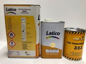Kapci Latico Clear Coat High Solids Gallon 4 1 W Fast Hardener 1l Slow Reducer
