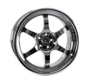 Cosmis Racing Xt006r 18x9 30 5x100 Full Black Chrome set Of 4
