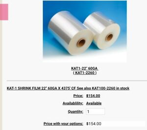 Heat Shrink Wrap Various Gauges And Sizes Set Of 7 Rolls