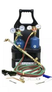 Gaspony 1 Oxy acetylene Portable Tote Outfit With Cylinders Gp1