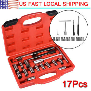 17pc Diesel Injector Seat Cutter Set Universal Tool Kit For Mercedes benz Crd