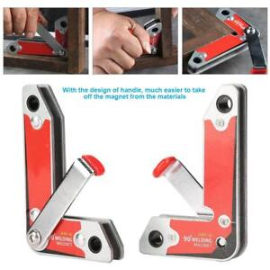 New 2pcs Magnet Welding Clamp Magnetic Holder Fixer With Handle 30 60 90