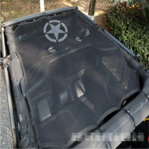 For 2007 2017 Jeep Wrangler 4 Door Freedom Star Sun Shade Top Cover Roof Mesh