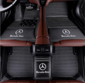 For 2005 2018 Mercedes benz All Models Luxury Custom Waterproof Floor Mats Logo