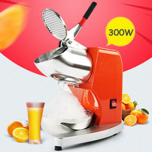 300w Electric Ice Crusher Shaver Commercial Machine Snow Cone Maker Bowl 80kg hr