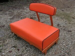 Allis Chalmers B c Seat back Cushion Set Orange black
