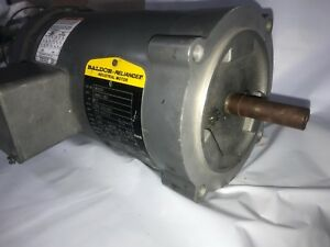 Baldor 1 1 2 Hp Electric Ac Motor 208 230 460 Vac 56c Frame 3450 Rpm 3ph