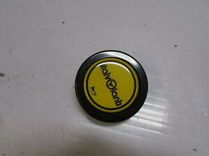Jdm Genuine Yellow Steering Wheel Horn Push Button Imola Italy Italv Ialti