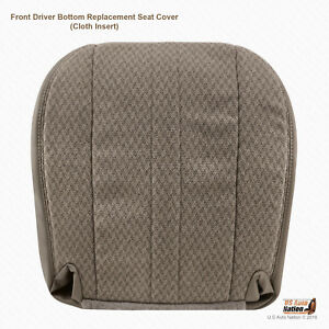 2003 2004 Chevy Express 1500 2500 3500 Van Driver Bottom Tan Fabric Seat Cover