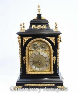 Victorian Mantle Clock Westminster Chimes Carriage Time
