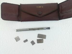 Vtg Lufkin 20 S Small Rule Set In Original Leatherette Case Machinist Tools