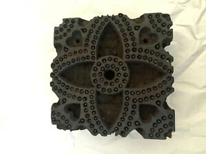 Indian Handcarved Wood Textile Block Moroccan Style Print