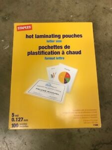 2 Staples 17468 5 Mil Hot Laminating Pouches set Of 2 Boxes