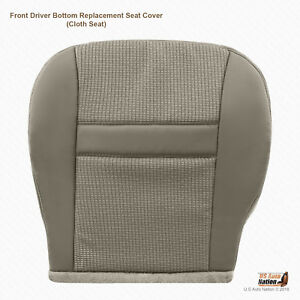 2007 2008 Dodge Ram Front Left Side Bottom Khakitan Cloth Replacement Seat Cover