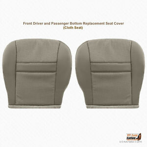 2007 Dodge Ram Truck Front Driver And Passenger Bottoms Cloth Seat Cover Khaki