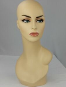 Less Than Perfect 174 Female Fleshtone Mannequin Head Form W Pierced Ears