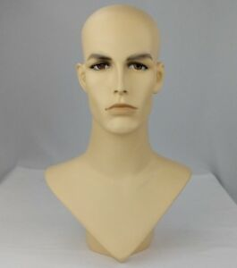 Less Than Perfect 175 V neck Male Fleshtone Mannequin Head Form
