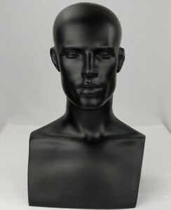 Less Than Perfect 521 a Black Male Mannequin Abstract Head Form Display Bust