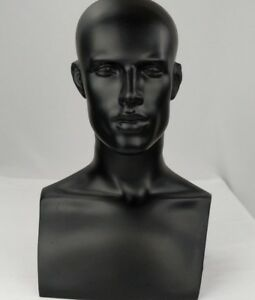 Less Than Perfect 521 b Black Male Mannequin Abstract Head Form Display Bust