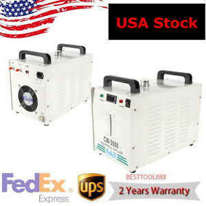 Usa 110v Industrial Water Chiller Cw 3000 For 60w 80w Cnc Laser Engraver