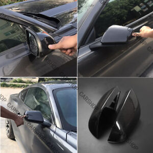 3k Carbon Fiber Car Door Side Mirror Cover W o Signal For Ford Mustang Gt 15 19