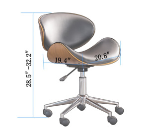 Chair Office Adjustable And Comfortable Executive Metal Wood Desk Wheels Curved