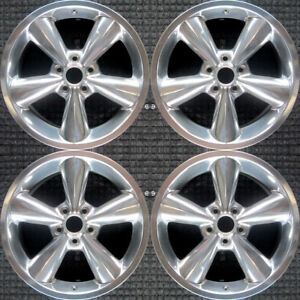 Set 2006 2007 2008 2009 Ford Mustang Oem Factory 18 Polished Wheels Rims 3648