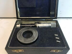 Fowler Bowers Bore Micrometer Gage 1 1 1 2 R116 W Box Extra Inserts