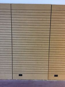 Used 4 X 8 Maple Color Slatwall Panels