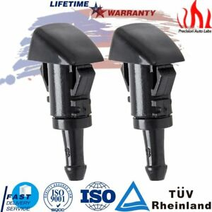 2x Water Spray Nozzle Windshield Washer Wiper For Chrysler 300 Dodge Charger Ram