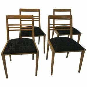 Mid Century Modern Walnut Dining Chair Set By Kipp Stewart For Drexel