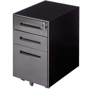 Locking 3 drawer Mobile File Cabinet Rolling Portable Steel Home Office Secure