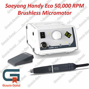 Marathon Handy Eco Dental Lab Brush Less Micromotor 50 000 Rpm Complete Set