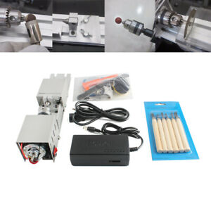 Diy Wood Mini Lathe Machine Polisher Table Sander Gringder Saw Cut Us eu Plug