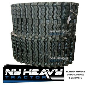 Two Rubber Tracks For Case 4640 W Vts 320x86x52 Zig Zag Tread